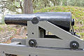 Columbiad cannon (1964 reproduction) at Fort McAllister, GA, US.jpg