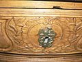 Commode cintrée style Louis XV, 18e, coquille, feuillage, rameau, laurier, colombe 3.JPG