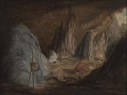 Conrad Martens: Stalagmites, Burragalong Cavern