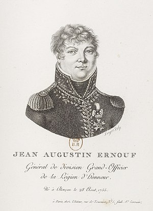 Jean Augustin Ernouf - Engraved portrait of Ernouf by Constance Mayer, 1810.