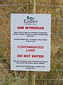 Contaminated land sign - geograph.org.uk - 597917.jpg