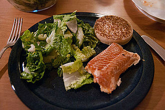 Sockeye salmon - Smoked sockeye salmon ready for consumption