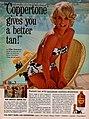 Coppertone gives you a better tan, says Elke Sommer, 1965.jpg
