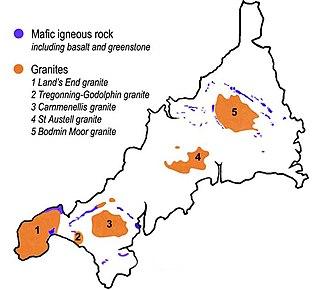 Bodmin Moor granite moorland in northeastern Cornwall, England