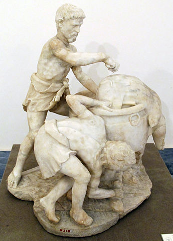 Roman cook preparing pork - Ancient Roman Nutrition