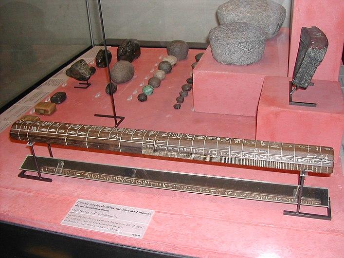 Coudée de Maya et poids égyptiens.JPG