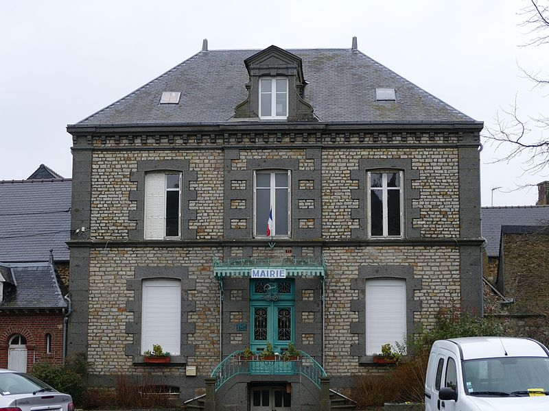 The city hall in Couterne (Orne, Normandie, France).