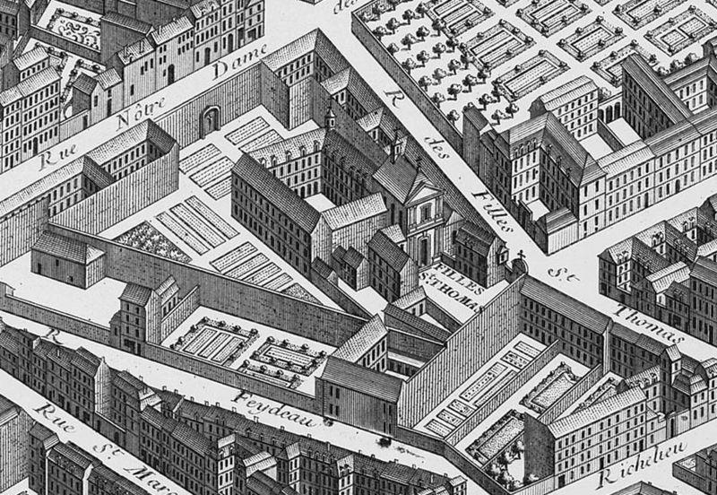 Fichier:Couvent des Filles-Saint-Thomas, Turgot map of Paris.jpg