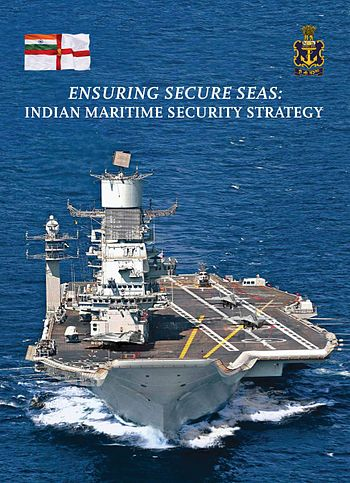 "Cover page of ""Ensuring Secure Seas - Indian Maritime Security Strategy"".jpg"