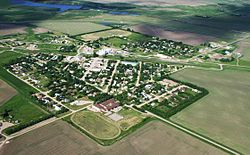 Aerial view of Craik