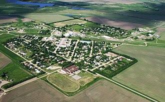 Craik, Saskatchewan - Aerial view of Craik
