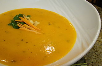 Carrot soup - A cream of carrot soup