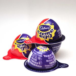 Cadbury Creme Egg - Image of the new packaging introduced in Canada (2015).