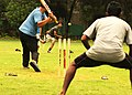 Cricket being played on a Summer Morning in India.jpg