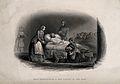 Crimean War; Florence Nightingale and nurses. Line engraving Wellcome V0015401.jpg
