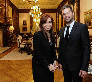 Español: Cristina Fernández de Kirchner con Ri...