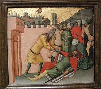 Cristoforo da Bologna - fresco  Stories of the New Testament, Conversion of Paul the Apostle by Cristoforo da Bologna
