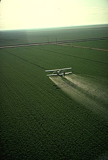 Cropduster spraying pesticides.