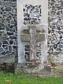 Cross on the wall - geograph.org.uk - 1455539.jpg