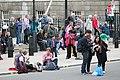 Crowds outside Horseguards, London III.JPG