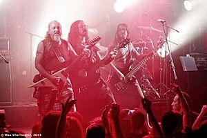 Cruachan (band) - Kieran, Keith and Eric, Russia 2014