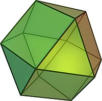 Cuboctaedro de los sólidos de Arquímedes.