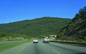 Cumberland Gap Tunnel - Approach from Cumberland Gap, Tennessee