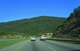 Cumberland Gap Tunnel - Approach from Cumberland Gap, Tennessee