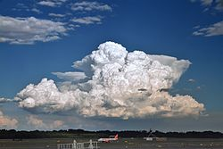 Cumulonimbus seen from Milano-Malpensa airport, 2010 08.JPG
