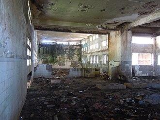 Grande Hotel Beira - Image: Current situation of the Grande Hotel, original kitchen on ground floor of block D
