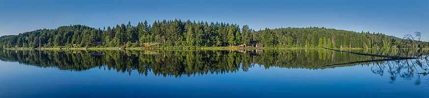 Cusheon Lake is the third largest lake of Saltspring Island, British Columbia, Canada