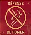 Défense de fumer des cigarettes électroniques ou non - parking du centre commercial du Carré de Soie.jpg