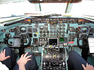 McDonnell Douglas DC-9 - two-person flight deck