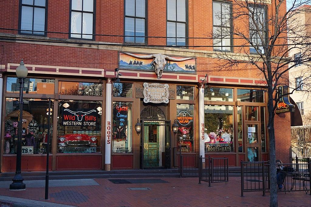 front facade of wild bills western store dallas texas