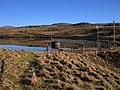 Dam and jetty of Llyn Craigypistyll - geograph.org.uk - 375620.jpg