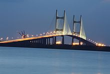 Dames Point Bridge at Night - 17 June 2013.jpg