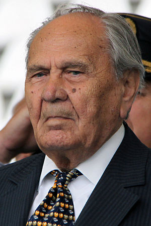 Josip Manolić - Josip Manolić at the Day of the Croatian Armed Forces in 2011