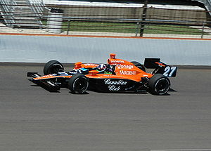 Dario Franchitti - Practicing for the 2007 Indy 500.