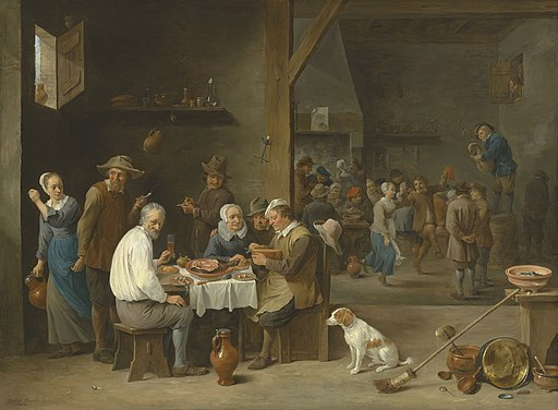 David Teniers II - Le dejeuner jambon