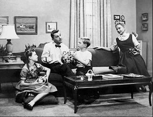 Joan Lorring - Joan Lorring (far right) and cast on the set of Norby