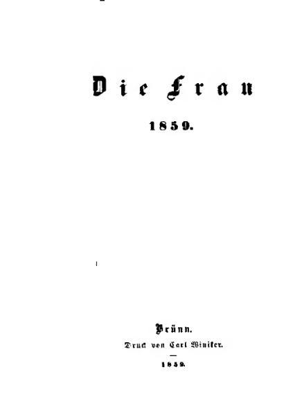 File:De Die Frau anonym 1859.djvu