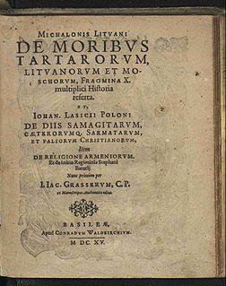 <i>De moribus tartarorum, lituanorum et moscorum</i>