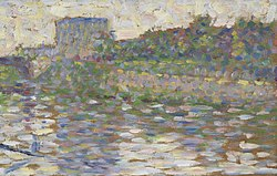 Georges Seurat: The Seine at Courbevoie