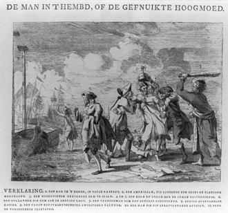 First League of Armed Neutrality - Image: De man in't hembd, of de gefnuikte hoogmoed LCCN2004673390