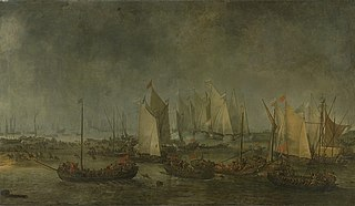 The battle on the Slaak between the Dutch and Spanish fleets during the night of 12-13 September 1631