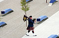 Dedication of the Pentagon Memorial bagpiper.jpg
