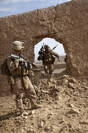 Mouse-holing - US Marines in Afghanistan, 2011.