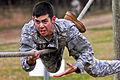 Defense.gov News Photo 110505-O-9999C-747 - U.S. Army Sgt. Daniel Florez climbs across a rope bridge at the confidence course event during the Regional Army Reserve Best Warrior Competition.jpg