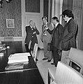 Den Uyl ontvangt fractievoorzitters CDA, PvdA en D66 in verband met kabinetsform, Bestanddeelnr 929-2443.jpg