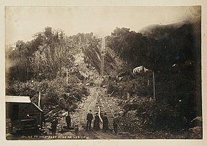 Denniston, New Zealand - Bottom of Denniston Incline, c.1880s-90s.